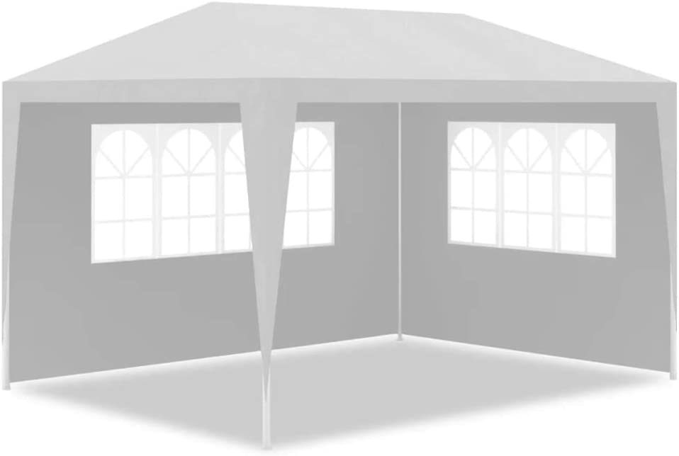 Festnight Party Tent 3x4 m,Garden Gazebos Marquee with Side Panels Waterproof/&UV-proof for Outdoor Wedding Garden,Heavy Duty Steel Blue
