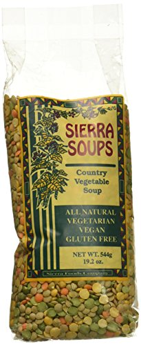 All Natural Gluten Free Vegetarian Vegan Country Vegetable Soup Mix 544 g 19.2 oz by Sierra Soups