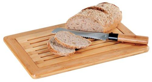 Kesper 61005 Brot-Schneidebrett, Gummibaumholz, Maße: 42 x 28 x 2 cm
