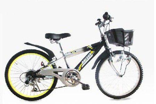 RAYSUS(レイサス) マウンテンバイク 自転車 22インチ RY-226KD キッズバイク シマノ6段ギア ダイナモライト 後輪鍵 100%完成車 B00LJB1D9G ブラック ブラック