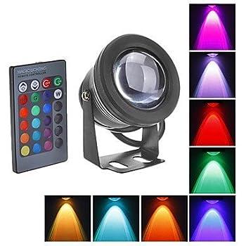 WEDO 10W RGB Led Flood Light IP66 Waterproof 16 Colors