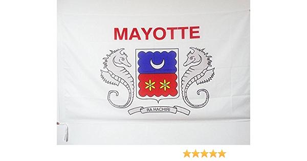 AZ FLAG Bandera de Mayotte 90x60cm para Palo - Bandera DE Mayotte - Francia 60 x 90 cm: Amazon.es: Jardín