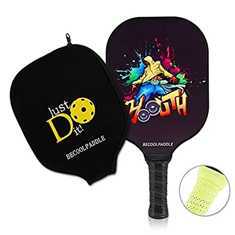 Pickleball Paddle - Graphite Pickleball Racket Lightweight Durable Honeycomb Composite Core Edgeless Paddle Set | Cushion Grip Handle with Replaceable ...