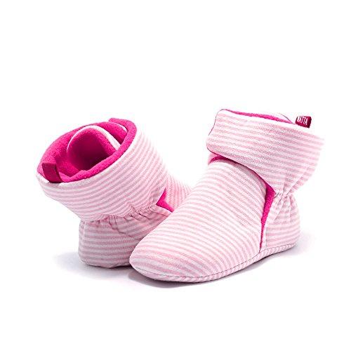 WATTA Baby Hi-Top Warm Up Fleece Lined First Pram Shoes Baby Booties - Image 7