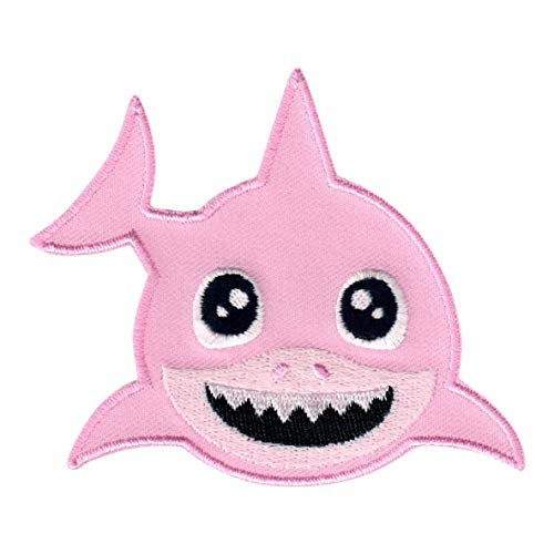 PatchMommy Shark Patch, Iron On/Sew On - Appliques for Kids Baby (Pink)