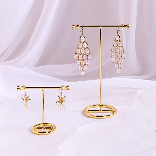 Exhibidores de joyeria en metal altura 7.5cm y 15cm dorados