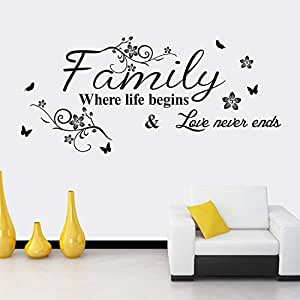Family English Rumors Flower Rattan Sofa Bedroom Background Carved Wall Stickers