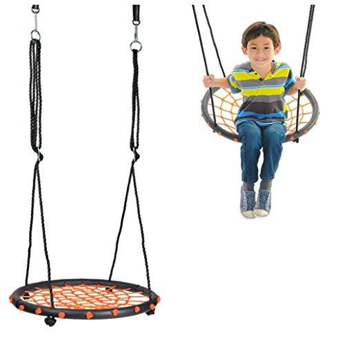 """24"""" Wide Tree Net Swing Outdoor Spider Web Swing Children's Net Swing Adjustable -  Bopstyle, WTN-1"""