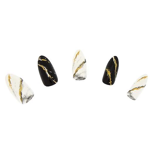 Amazon.com: Claires - Juego de uñas de mármol sintético ...