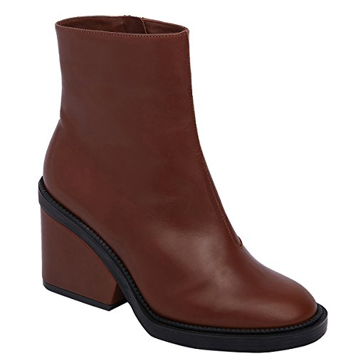 Robert Clergerie Women's Babe Mid Heel Ankle Boots, Cafe (EU 39.5 M)