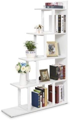 QXY ZYQ Librería De Muebles Tribesigns Estantería de 5 Niveles Estantería Esquina de Pared Estantería Escalera Almacenamiento Pantalla (Color : Blanco): Amazon.es: Hogar