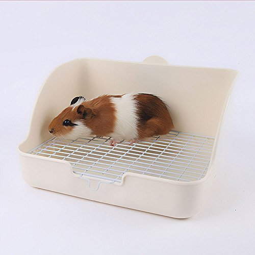 HongYH Pet Small Rat Toilet, Square Potty Trainer Corner Litter Bedding Box Pet Pan for Small Animal/rabbit/guinea Pig/galesaur/ferret(Grey) by HongYH (Image #7)