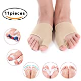 Bunion Corrector & Bunion Relief Toe Splint Kit, [11PCS] Big Toe Straightener Spacer Bunion Joint Protector Toe Separators for Women Men Kid, Treat Pain in Hallux Valgus Hammer Toe for Day & Night Use