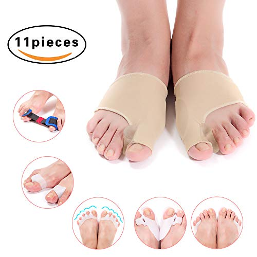 Bunion Corrector & Bunion Relief Toe Splint Kit, [11PCS] Big Toe Straightener Spacer Bunion Joint Protector Toe Separators for Women Men Kid, Treat Pain in Hallux Valgus Hammer Toe for Day & Night Use by GLDOP