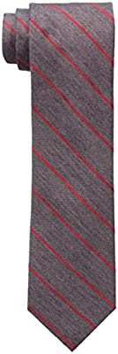 Calvin Klein Men's Red Hot Repp Stripe Tie