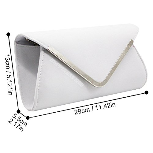 Handbag Wocharm Evening Suede White Designer Bag Clutch Bag Prom Faux Women's Wedding Silver Ladies Celebrity Trim Party Style Hand wErw4q7fW