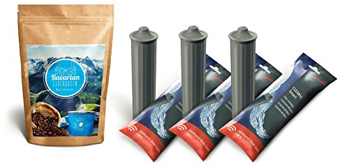 Bavarian Lederhosen Whole Beans Coffee 8.8 oz & 3 Jura Clearyl/Claris Smart Filter Cartridges by Bavarian Lederhosen Roasted Coffee