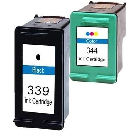 Pack Cartuchos Tinta Compatible para HP 339 XL / 344 XL/Negro y Tricolor 28/17ml T88 T91: Amazon.es: Electrónica