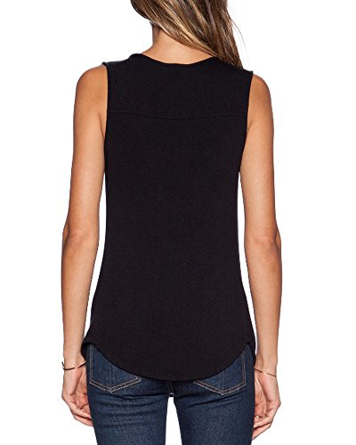 Sarin-Mathews-Womens-V-Neck-Ruched-Sleeveless-Sexy-Blouse-Stretch-Tank-Tops