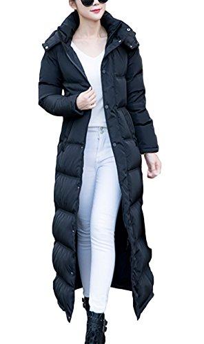 Lukis Damen Lange Daunenjacke Daunen Mantel Mit Kapuze Winter