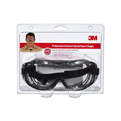 Chemical Goggles Splash Safety - 3M 91264-80025  Chemical Splash/Impact Goggle, 1-Pack