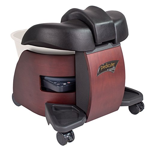 CONTINUUM PediCute Portable Foot Spa - Eco-Friendly & Mobile Foot Bath that works like a Full Size Pedicure Spa (No Plumbing Needed)