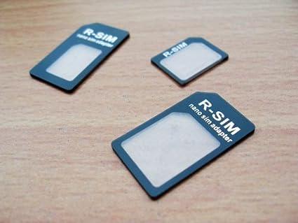 3 adaptadores para tarjetas SIM, microSIM y nanoSIM, 4 en 1 (incluye púa metálica para abrir bandeja del smartphone/tablet)
