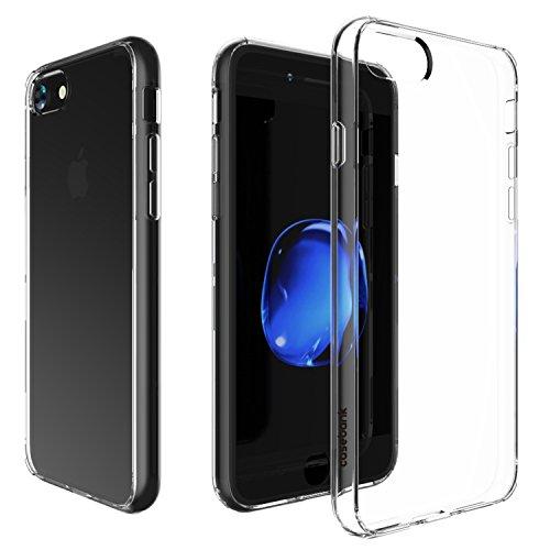 iPhone7 クリア ケース 背面ガラスパネル + 衝撃吸収バンパー 新しい ハイブリッドケース ウルトラ ハイブリッド 硬度9H クリスタル 超高透明度94% HYBGP-I7-CLR712