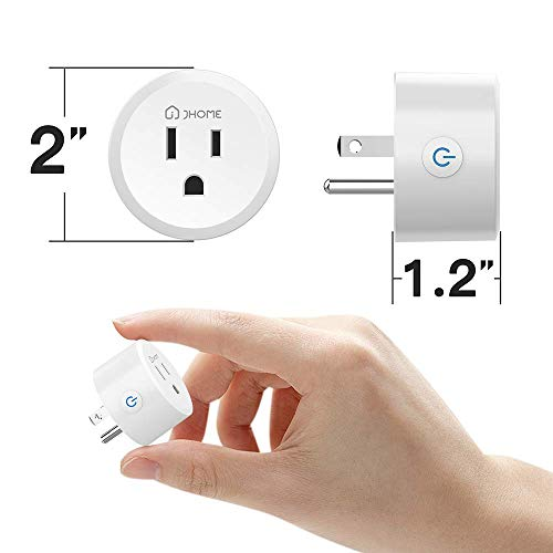 Jhome Zigbee Smart Plug, Mini Outlet Switches Works with Echo Plus, SmartThings Hub, Google Home. Remote Control Your Home Appliances from Anywhere(2 Pack)