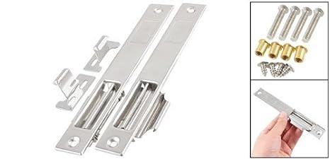 eDealMax tono de la plata del acero inoxidable de Seguridad Puerta cierre de la cerradura Barril Perno 7.1 Longitud - - Amazon.com
