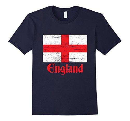 George English Flag (Men's Flag of England, St George's Cross, English T-Shirt Medium Navy)