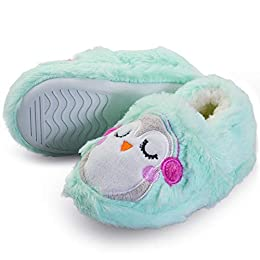 Image of Light Green Penguin Slippers for Toddlers and Girls