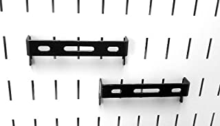 product image for Wall Control Pegboard 1in x 4in C-Bracket Slotted Metal Pegboard Hook for Wall Control Pegboard and Slotted Tool Board – Black