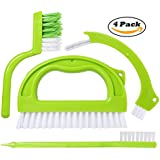 Grout Cleaner Brush - Tile Joint Scrubber Brush (4 in 1 Super Value Pack) with Nylon Bristles - Great Use for Deep Cleaning Bathroom, Kitchen and the Rest of the Household
