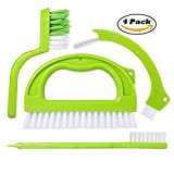 #8: Grout Cleaner Brush - Tile Joint Scrubber Brush (4 in 1 Super Value Pack) with Nylon Bristles - Great Use for Deep Cleaning Bathroom, Kitchen and the Rest of the Household