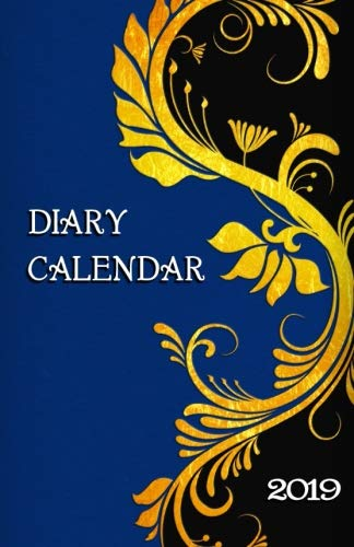 Diary Calendar: Gold Scroll