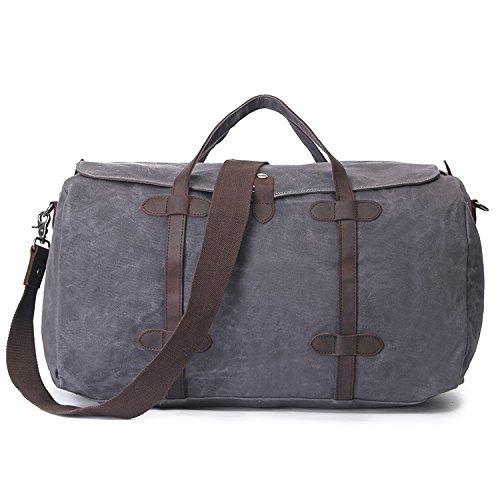 mefly Verano Canvas Bag oblícuos Cruz Bolsa de viaje de gran capacidad de equipaje, verde militar verde militar