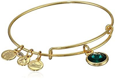 Alex and Ani Bangle Bar Birthstone Bangle Bracelet, 7.75""