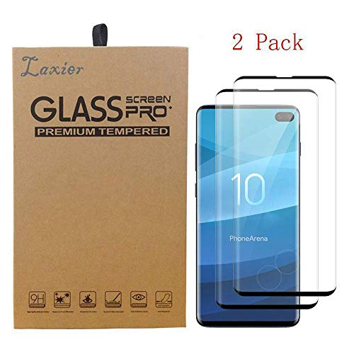 (2 Pack of Galaxy S10 Tempered Glass Screen Protector, Case Friendly Full Coverage Saver Protective Cover Clear Film for Samsung Phone S 10 (not for S10 Plus and S10E))