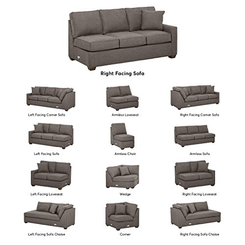 Stone & Beam Bagley Sectional Component, Right-Facing Sofa, Fabric, 75