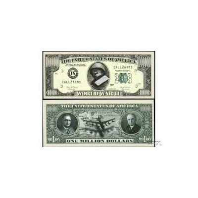 Set of 5 - World War II Commemorative Million Dollar Bills: Toys & Games