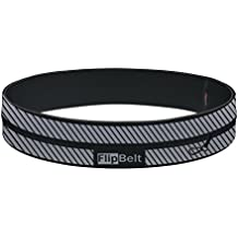 FlipBelt Reflective Edition - The patented high visibility reflective running belt to secure your items and keep you safe while running!