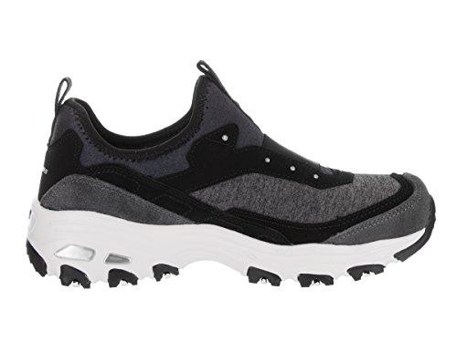 Skechers Sport Dlites Femmes Dames Moderne Avant Mode Sneaker Noir