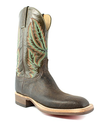 Lucchese HX2505.W8 Archer Mens Chocolate Goat Leather Cowboy Western Boots