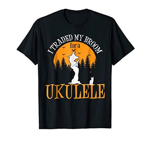 Funny halloween ukulele ukuleleist player tshirt -