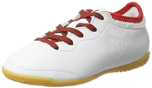 adidas X Tango 16.3 In J, Zapatillas de Fútbol Unisex Niños Blanco (Ftw White/ftw White/red)