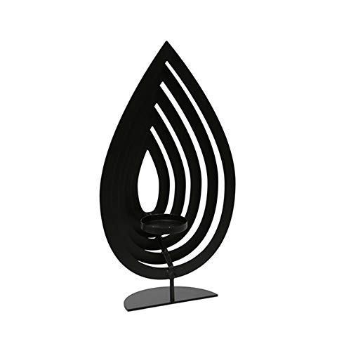 Benzara Traditional Style Metal Tealight Candle, Black, Larg