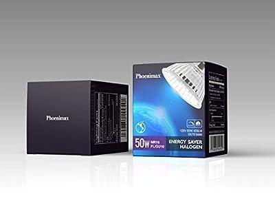 Promotion: Halogen 50 Watt, GU10 Base, 120 Volt, MR16 With UV Glass Cover, W50MR16/FL/GU10, 6 Pack (50W)