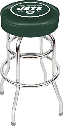 Imperial Officially Licensed NFL Furniture: Swivel Seat Bar Stool, New York Jets
