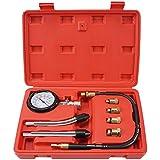 ORCISH 8PCS Professional Tester Test Kit Cylinder Compression Gas Engine Set Automotive Tool Gauge for Car & Truck